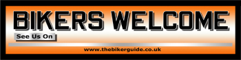 BIKERS WELCOME pvc banner - See us on...