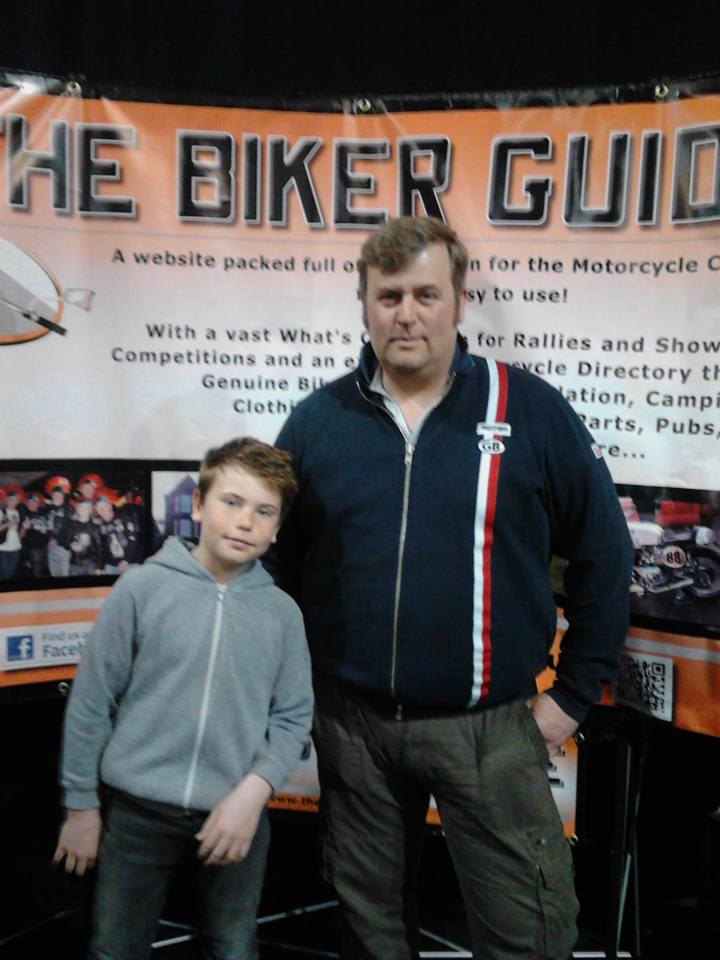 Robin Coates and son Isaac - winner at the Manchester Bike Show