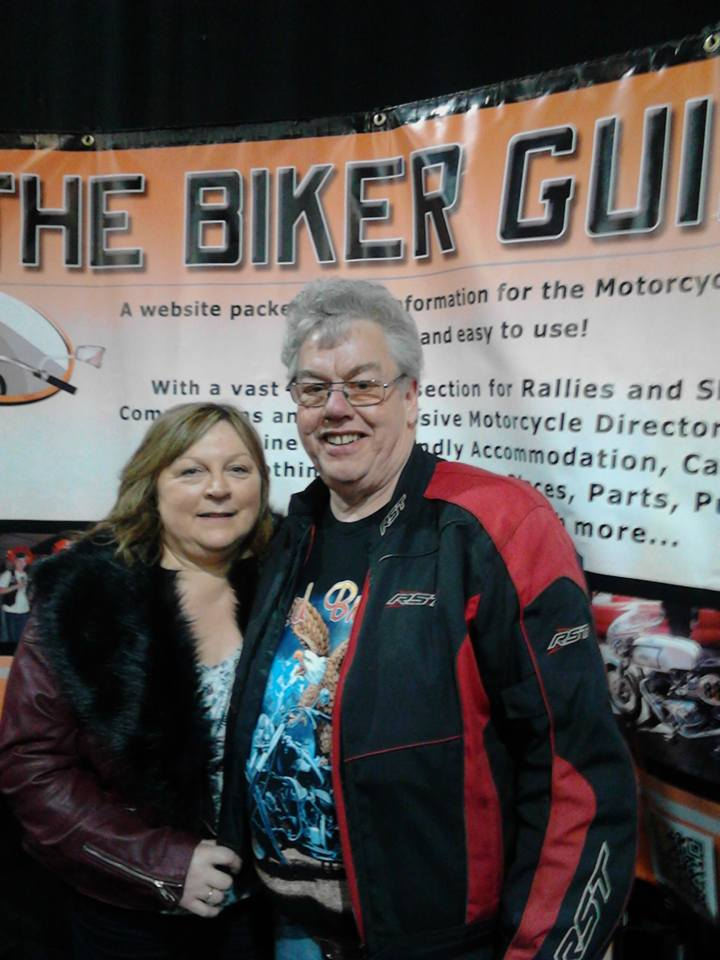 Kevin and Jane Okane - winners of tickets at the Manchester Bike Show