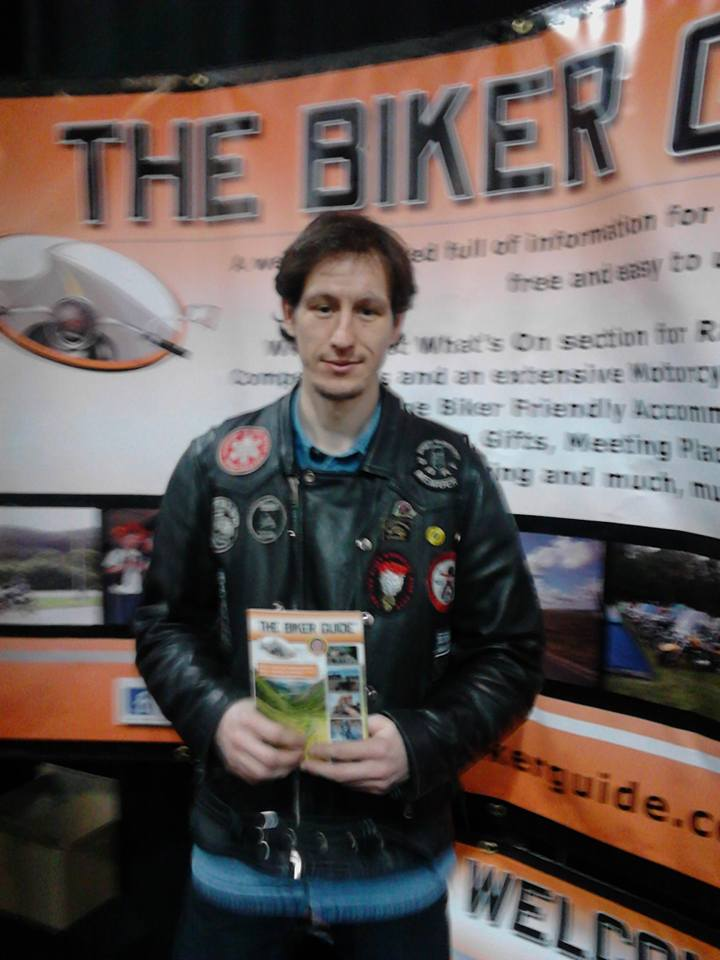 Alex Lally - winner of tickets for the Manchester Bike Show