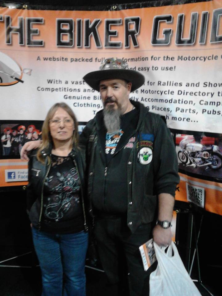Geraint James - winner of tickets at the Manchester Bike Show