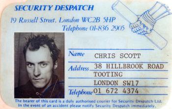 London motorcycle messenger, Chris Scott