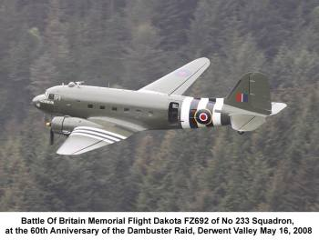 The Battle of Britain Memorial Flight salute to 25 years of the NABD