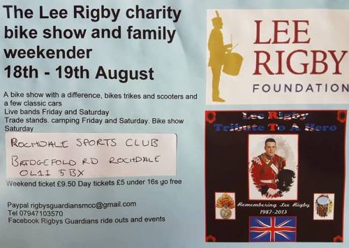 The Lee Rigby Charity Bike and family weekender
