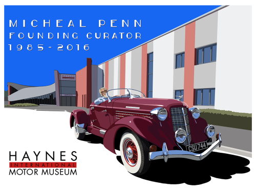 Micheal Penns Retirement Gift - A painting of the 1936 Auburn 852 Speed