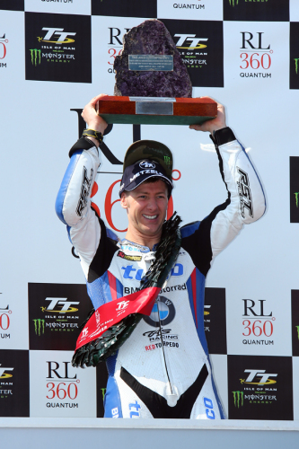 Ian Hutchinson made it two wins in a day when he smashed the lap and race r