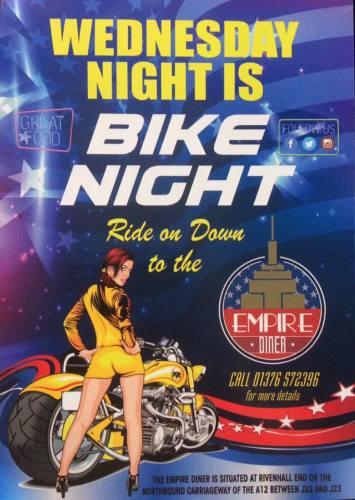 The Empire Diner, Wednesday Bike Night, Essex