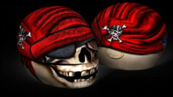 Skullskins Streetskin Motorcycle Helmet Protector Cover - Ancient Pirate