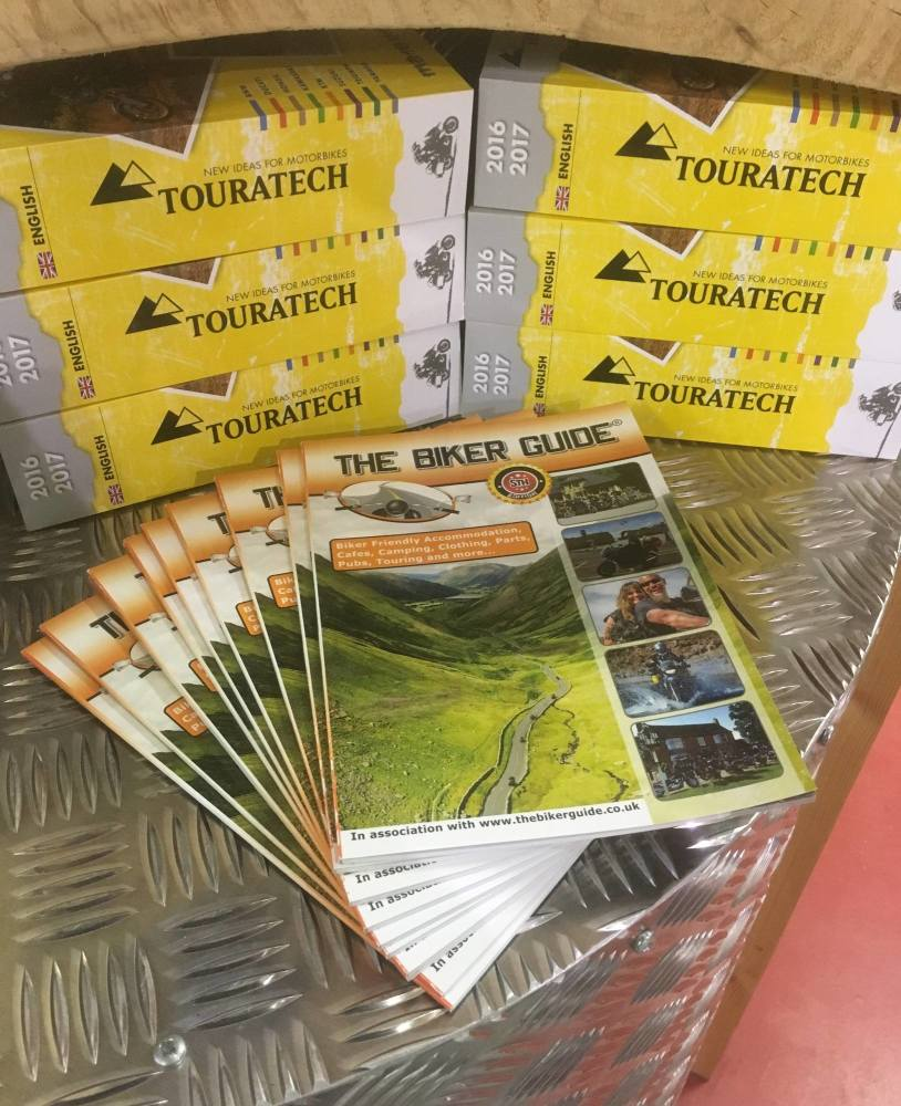 THE BIKER GUIDE booklets at Touratech
