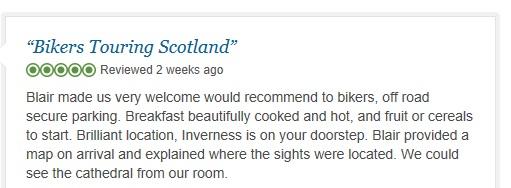 Rose Lodge Inverness, trip advisor review