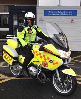 Shropshire and Staffordshire Blood Bikes (SSBB), life-saving riders