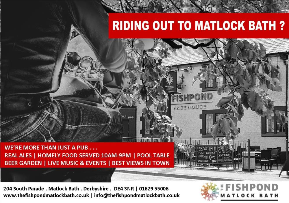 Fishpond Matlock, Biker Friendly pub, Matlock Bath, Derbyshire
