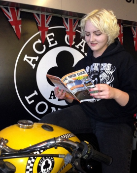 Ace Cafe with THE BIKER GUIDE booklet