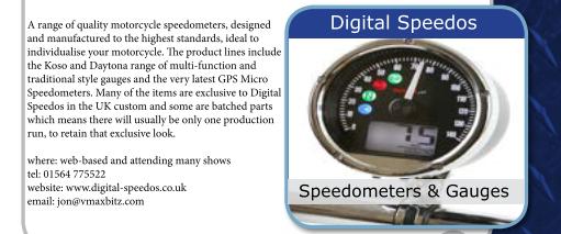 Digital Speedos, in THE BIKER GUIDE booklet