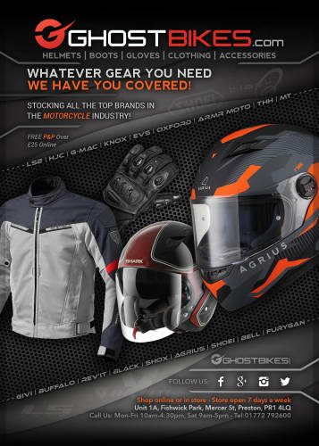 THE BIKER GUIDE, 6th edition, Ghost Bikes, Motorcycle Clothing