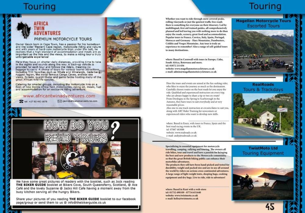 THE BIKER GUIDE, 6th edition, Motorcycle Touring,
