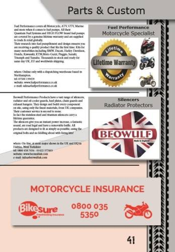 THE BIKER GUIDE - 6th edition, Custom, Parts, Radiator Protectors, exhaust