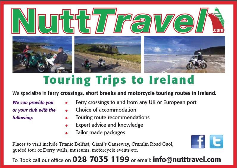 Nutt Travel, Ferry Crossing Specialists, Motorcycle transport, Motorbike Ir