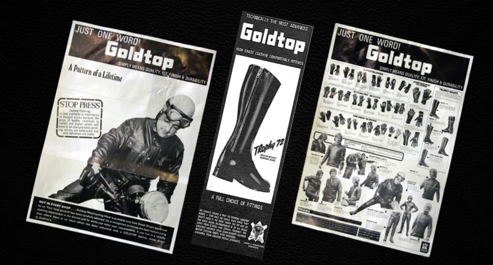 Goldtop England, Classic cafe racer motorcycle clothing, Retro