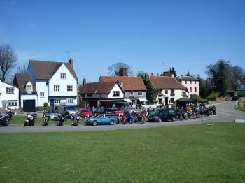 Bosworth's Tea Rooms, Bikers welcome, Finchingfield, Essex, cafe