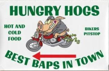 Hungry Hogs at Hillside Cafe, Biker Friendly, Belton-in-Rutland, Leicesters