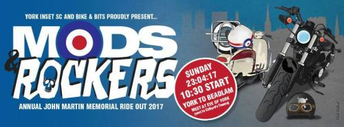 Mods and Rockers ride out, York 2017