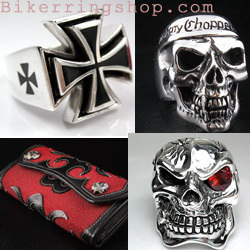 Bikerringshop.com, Biker jewellery, Silver, skulls, gothic, rings, necklace