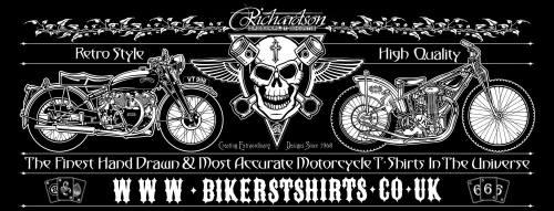 Biker T Shirts - Richardson Original T-Shirts, Retro, Classic, Vintage, Cus
