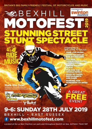 BEXHILL MotoFest, free to attend motorbike event, East Sussex 2019