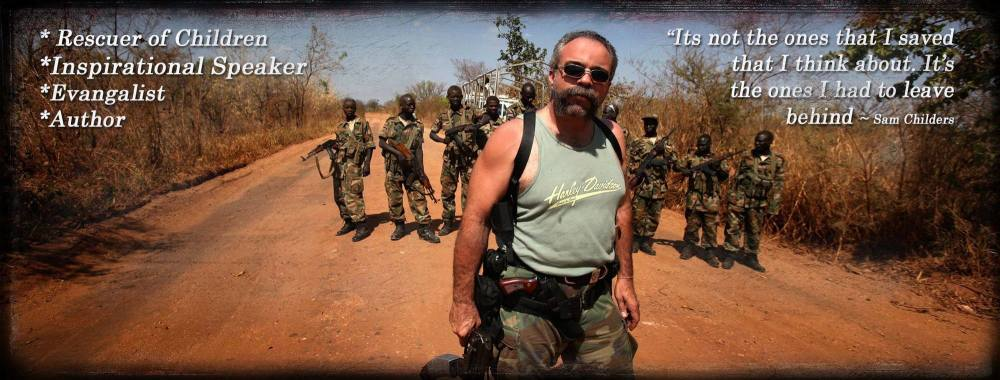 Sam Childers. The Real Machine Gun Preacher - Speaking about his work Rescu