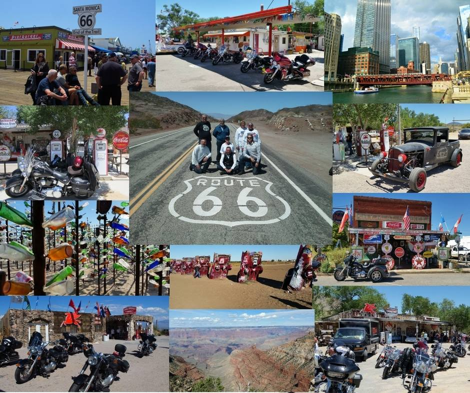 Ornage and Black Motorcycle Tours - Route 66