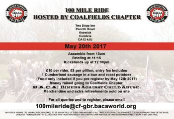 Bikers Against Child Abuse - 100 Mile Ride