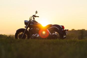 Sunset Motorcycle Road Trip