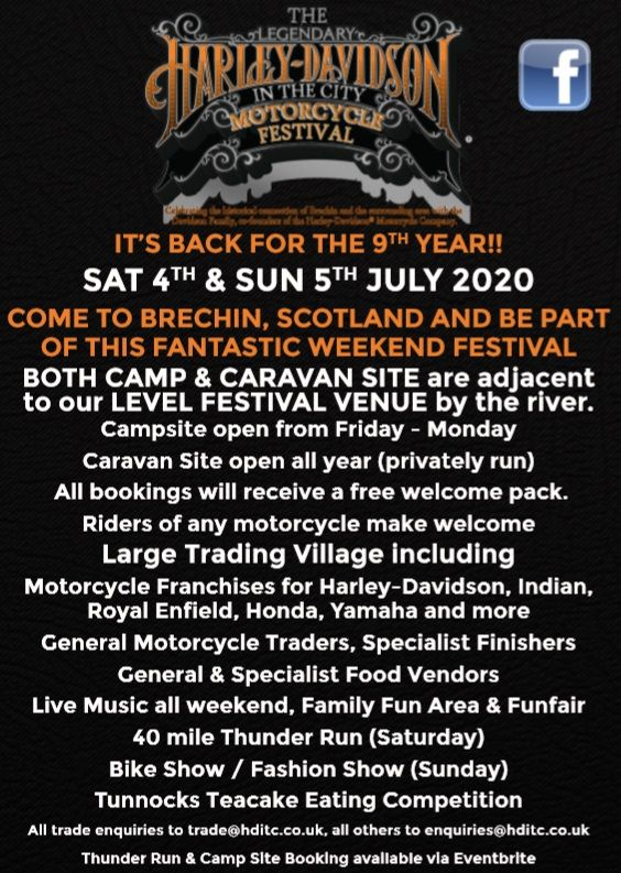 The Legendary Harley-Davidson in the City Motorcycle Festival, Scotland