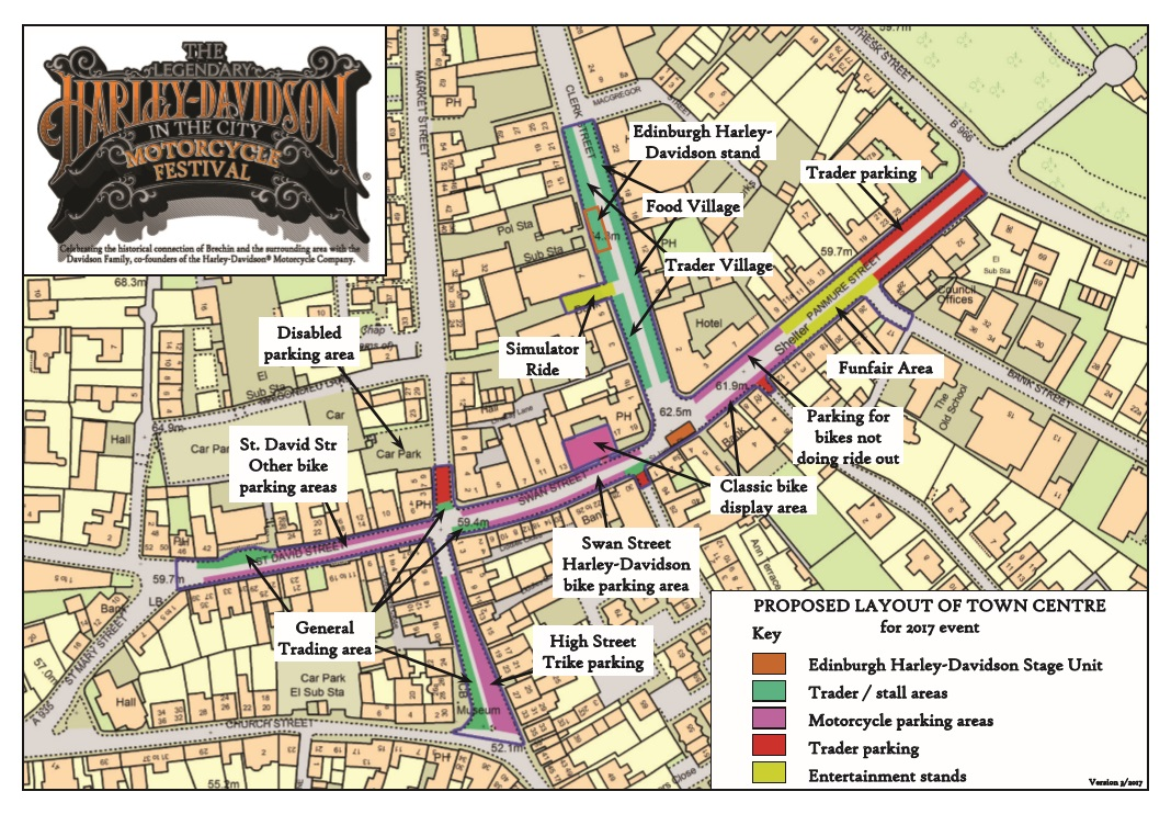 The Legendary Harley-Davidson in the City Motorcycle Festival map
