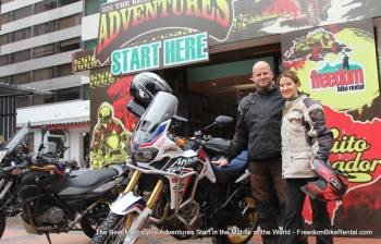 Ecuador Freedom, Motorcycle touring, Bike Rental, Quito