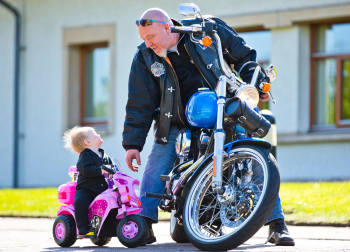 Erskine Motorbike Meet, for Scotlands veterans