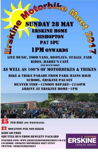 Erskine Motorbike Meet, Scotlands veterans fundraiser