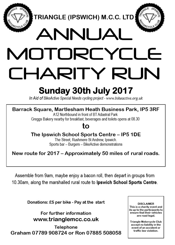 Triangle MCC Motorcycle Charity Run