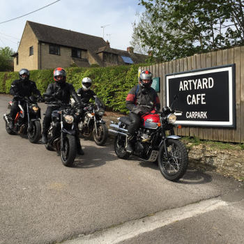 Artyard cafe, Bikers welcome, Chipping Norton