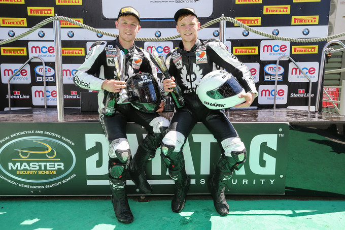 Double podium for SHARK-supported Neave twins at Snetterton
