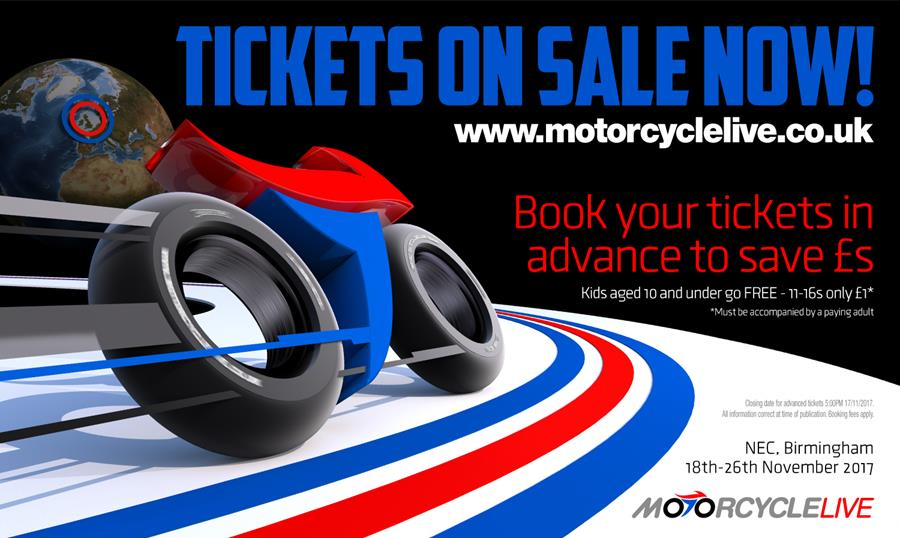 Motorcycle Live 2017 tickets on sale now