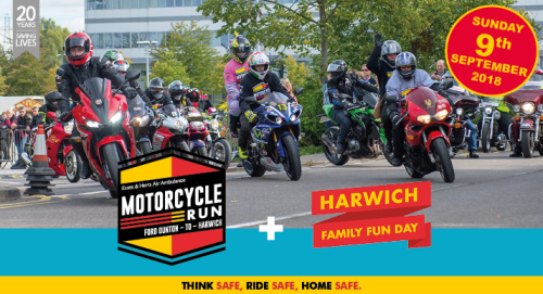 Motorcycle Run and Harwich Family Fun Day - Essex and Herts Air Ambulance