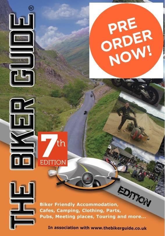 THE BIKER GUIDE - 7th edition cover - pre order