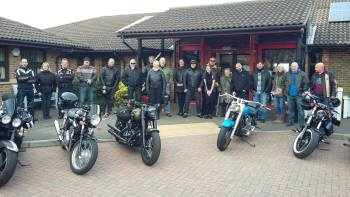 Motorbike ride in aid of the Friends of The Wisdom Hospice in Kent
