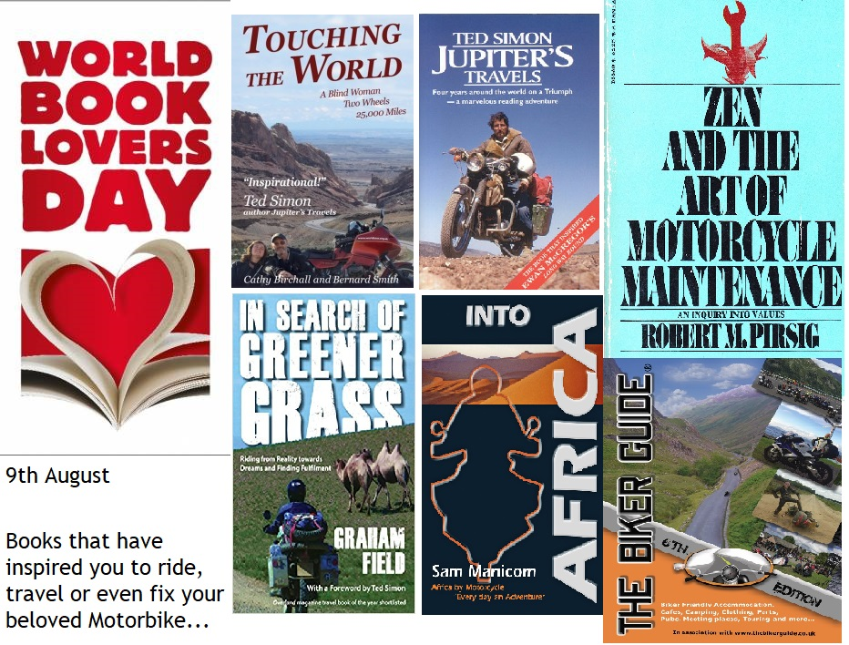 Book Lovers Day - Books that have inspired you to ride, travel and fix your