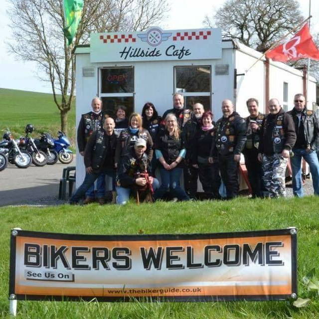Hungry Hogs at Hillside Cafe, Bikers welcome, Belton-in-Rutland, Leicesters