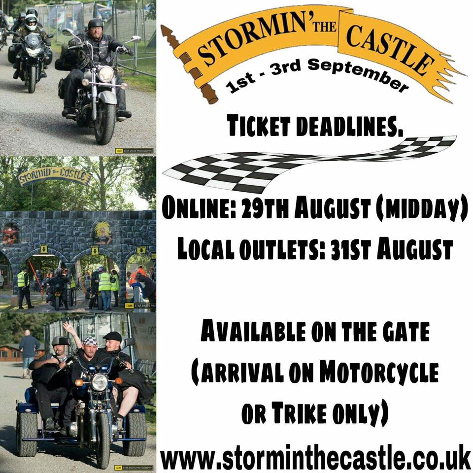 Stormin The Castle - pre-book tickets closing soon
