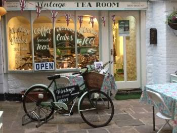 Vintage Cycles Shop, Tea Room, Bikers welcome, Matlock Bath, Derbyshire