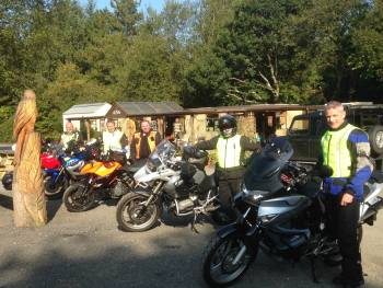 Two Hoots Tea Room, Vale of Rheidol Railway Station, Bikers, Devils Bridge,